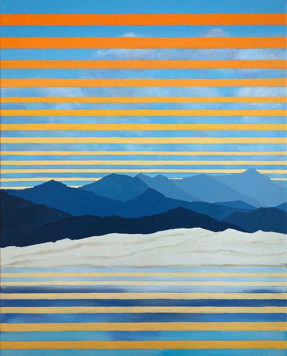 "Mono Lake Study, Oil and Acrylic on Canvas. 20""x16"" (51x41cm)"