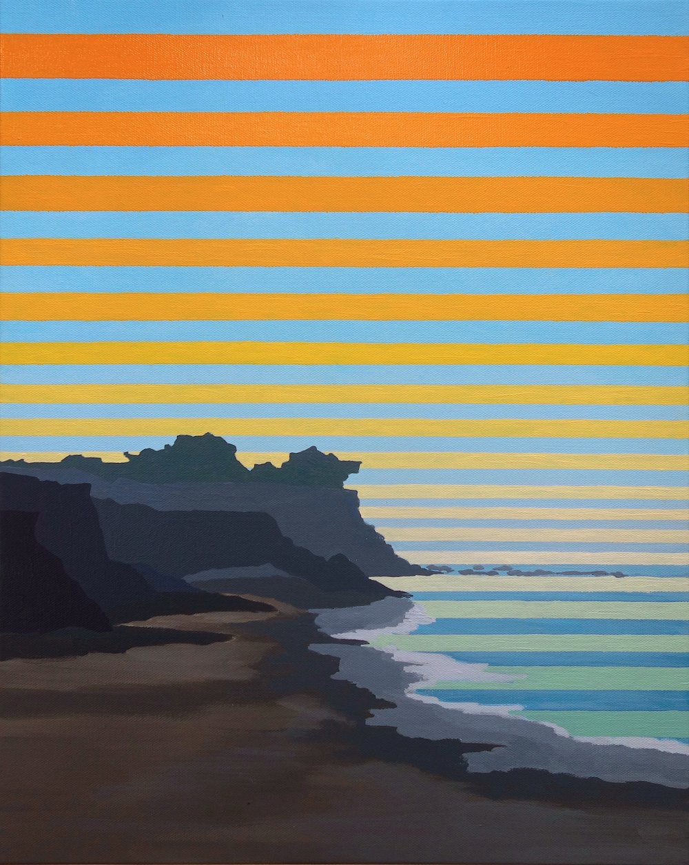 """Cambria, 2016. Oil and Acrylic on Canvas. 20""""x16"""" (51x41cm)"""