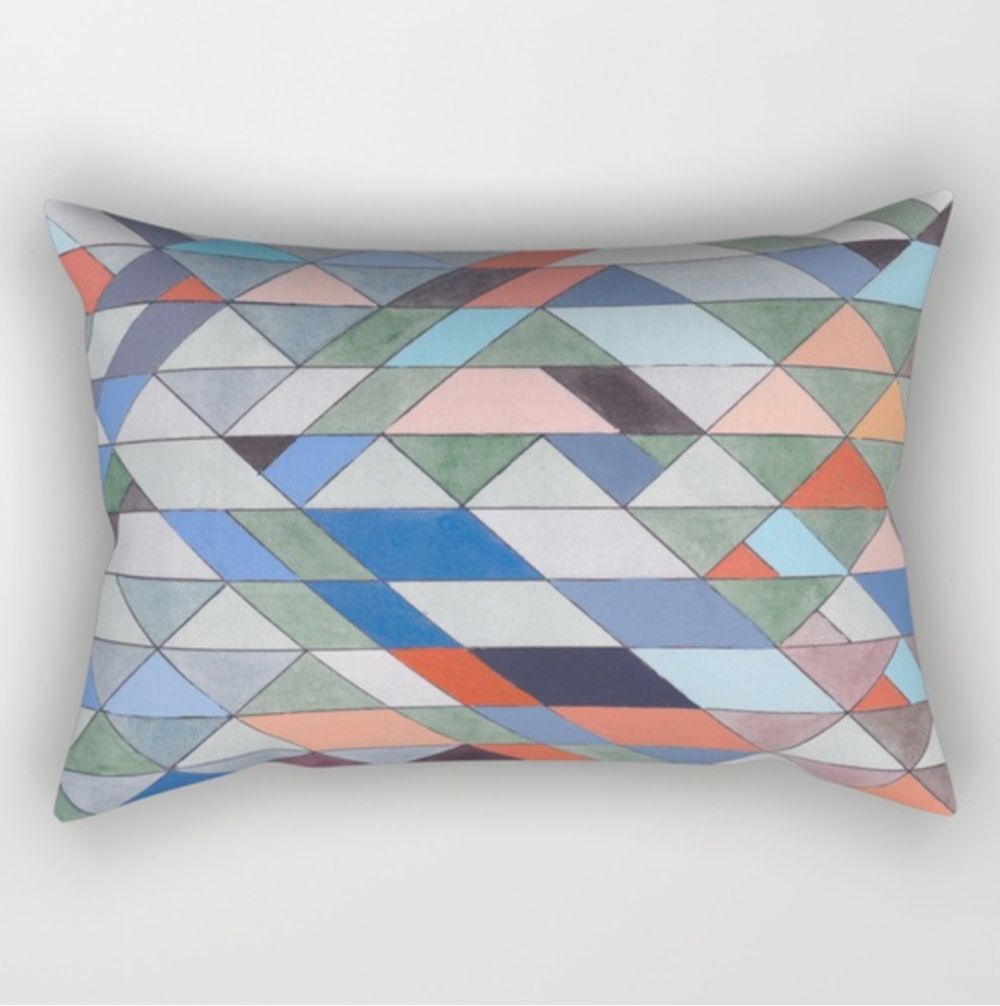 Triangles 7 Rectangular Pillow