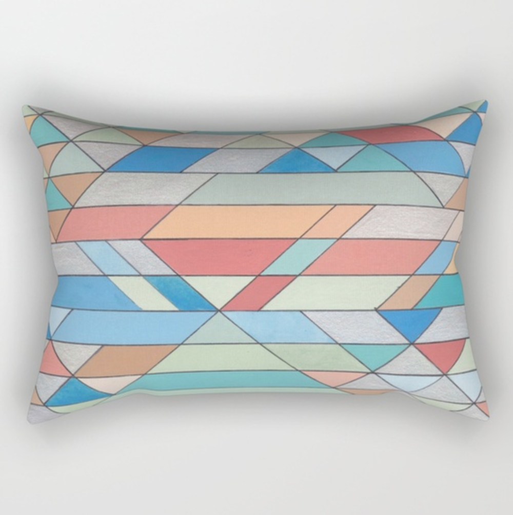 Triangles 2 Rectangular Pillow