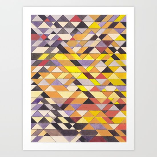 Triangles 8 Print