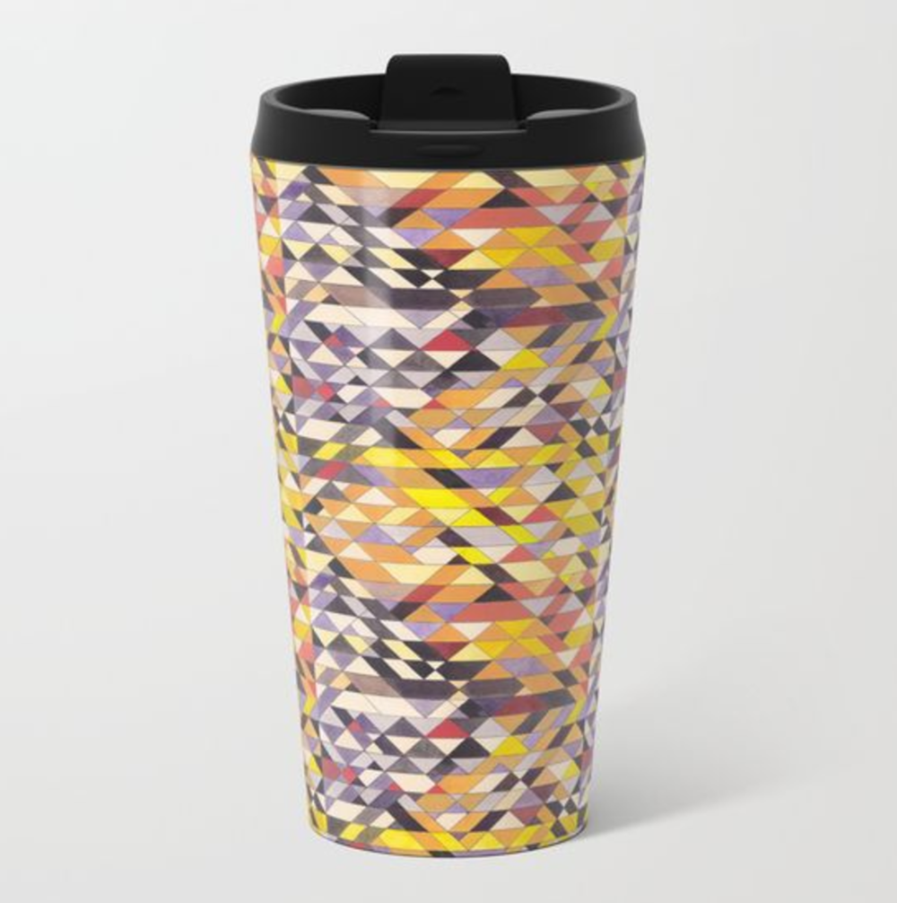 Triangles 8 Travel Mug