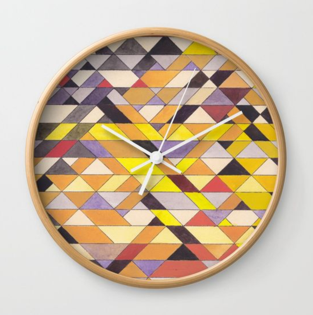 Triangles 8 Wall Clock