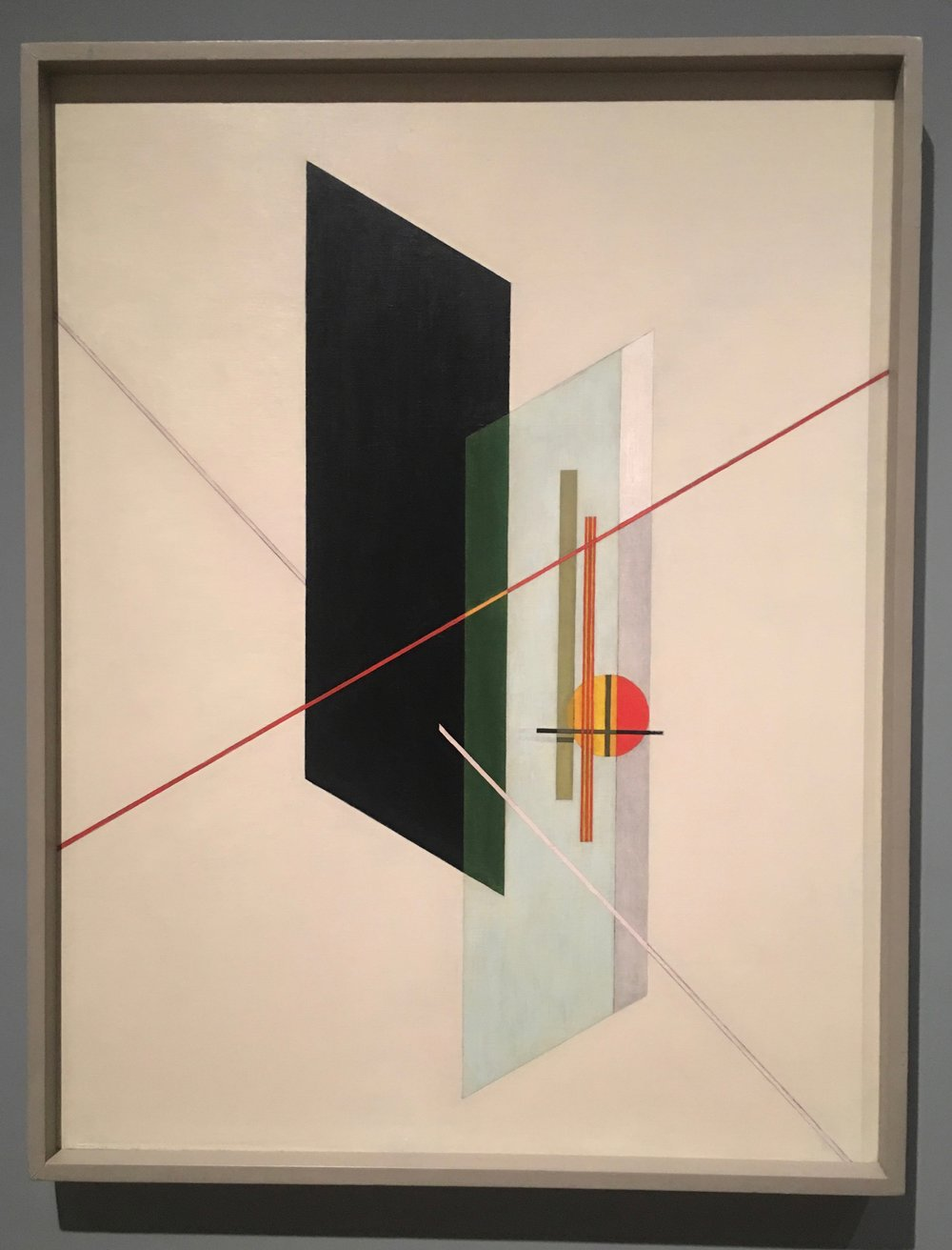 A IX, 1923; Oil and graphite on canvas