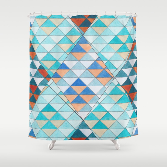 Triangles 10 Shower Curtain