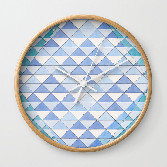 Triangles 9 Wall Clock