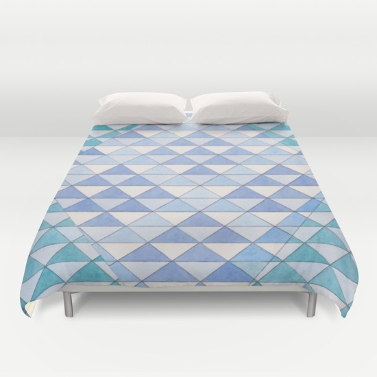 Triangles 9 Duvet Cover