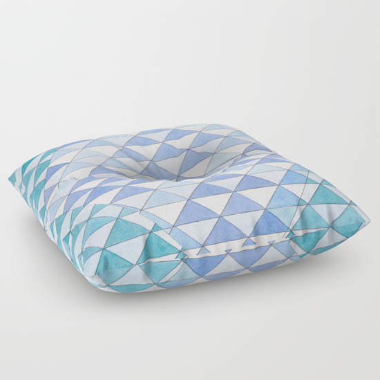 Triangles 9 Floor Pillow