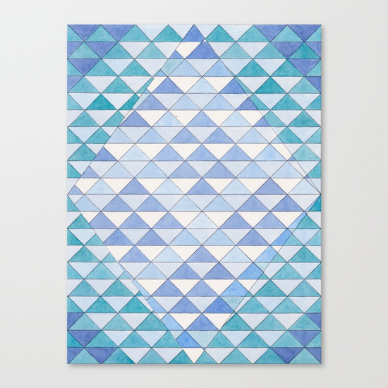 Triangles 9 Canvas Print