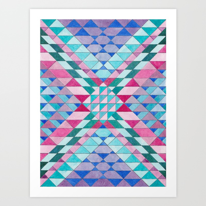 Triangles 12 Print