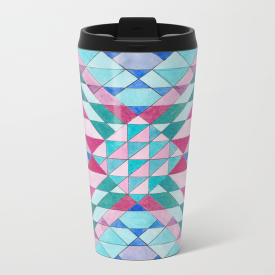 Triangles 12 Travel Mug