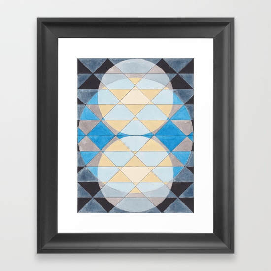 Triangles 14 Framed Art Print