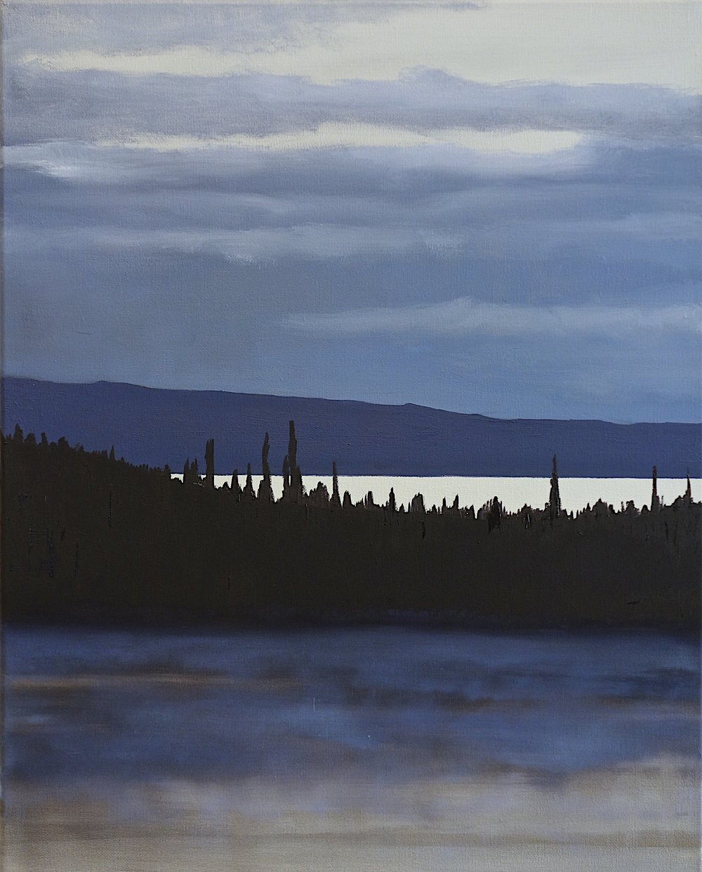 """Yellowstone Early Morning. Oil on Canvas. 2018. 20""""x16"""" (51x41 cm)"""