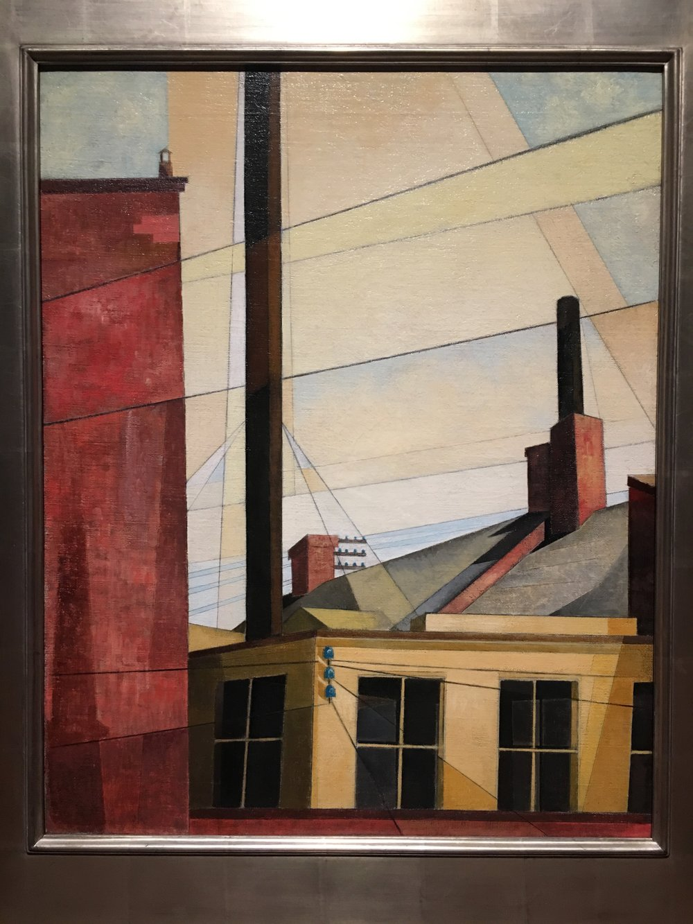 Charles Demuth, Fromt he Garden of the Chåteau, 1921-25, Oil on Canvas