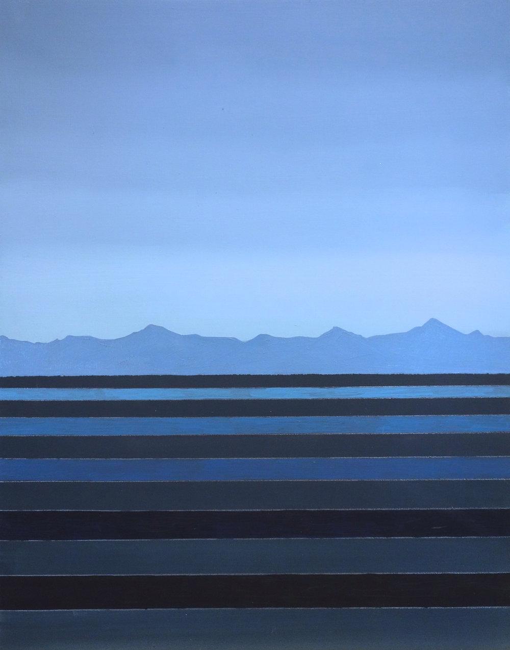 """Deep Blue. 2018. Oil on Panel. 14""""x11"""""""