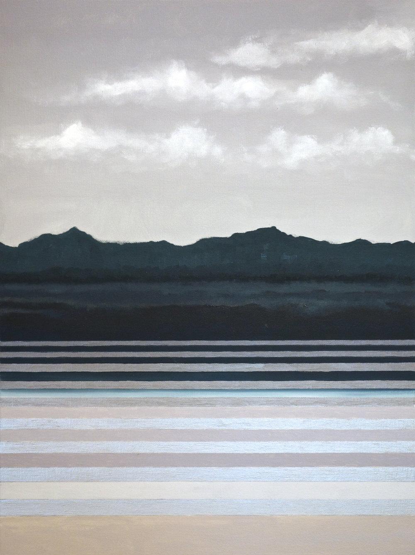 "Goleta Reflections. 2018. Oil on Canvas. 24""x18"""