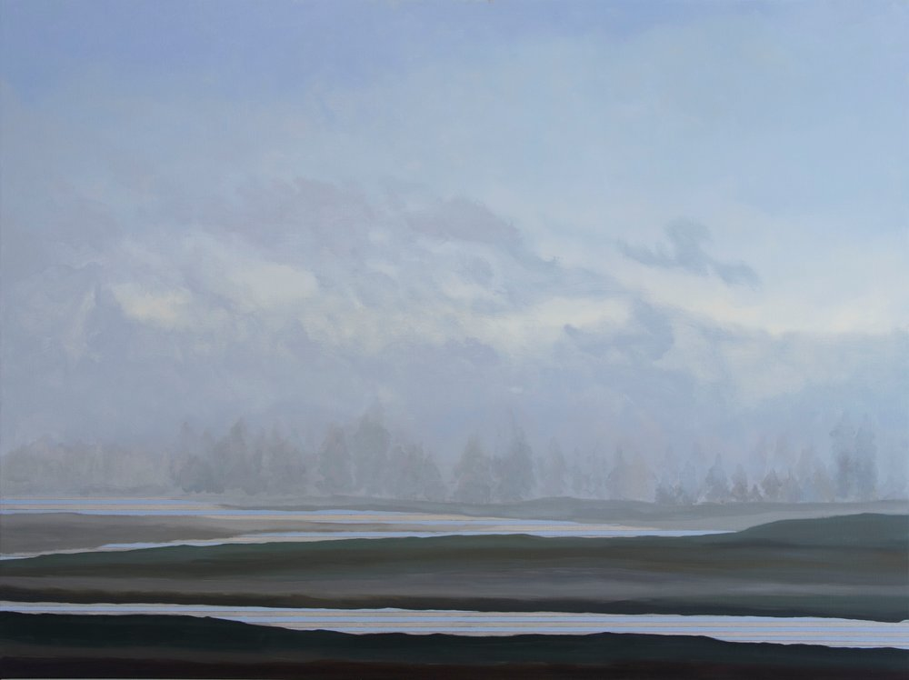 "Julika Lackner. Yellowstone River. 2017. Oil on Canvas. 36""x48"".jpg"
