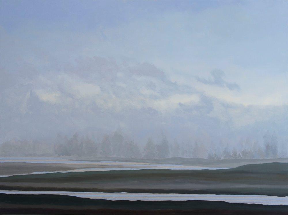 "Julika Lackner. Yellowstone River. 2017. Oil on Canvas. 36""x48"".jpg"