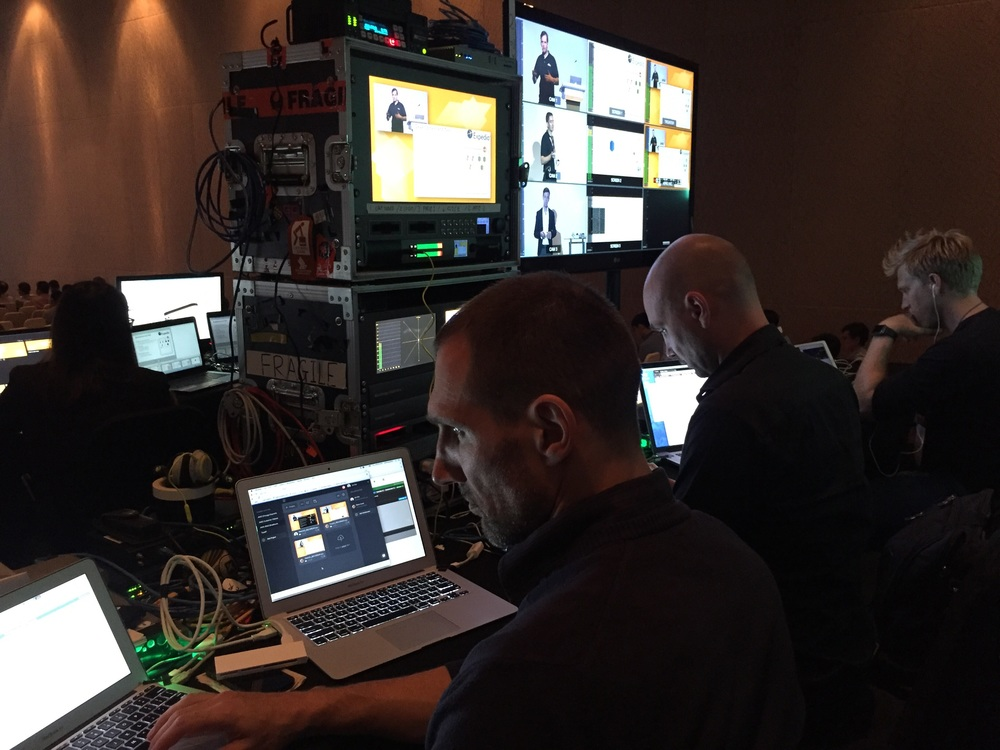 Team VioCorp monitor the live stream.