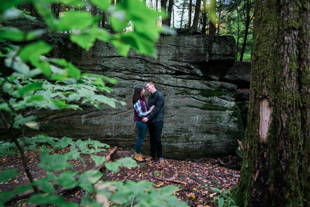 Jessica and JR Engagement Photography by Stefan Ludwig at Rock City State Park in Ellicottville, NY-25.jpg