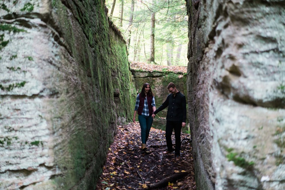 Jessica and JR Engagement Photography by Stefan Ludwig at Rock City State Park in Ellicottville, NY-32.jpg