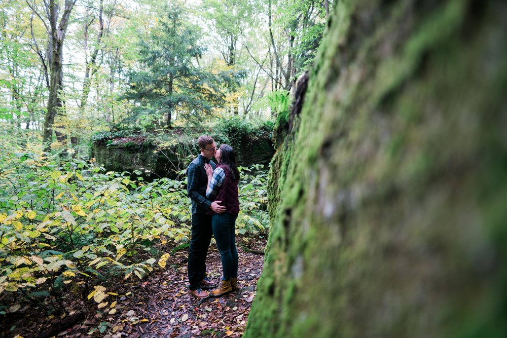 Jessica and JR Engagement Photography by Stefan Ludwig at Rock City State Park in Ellicottville, NY-39.jpg