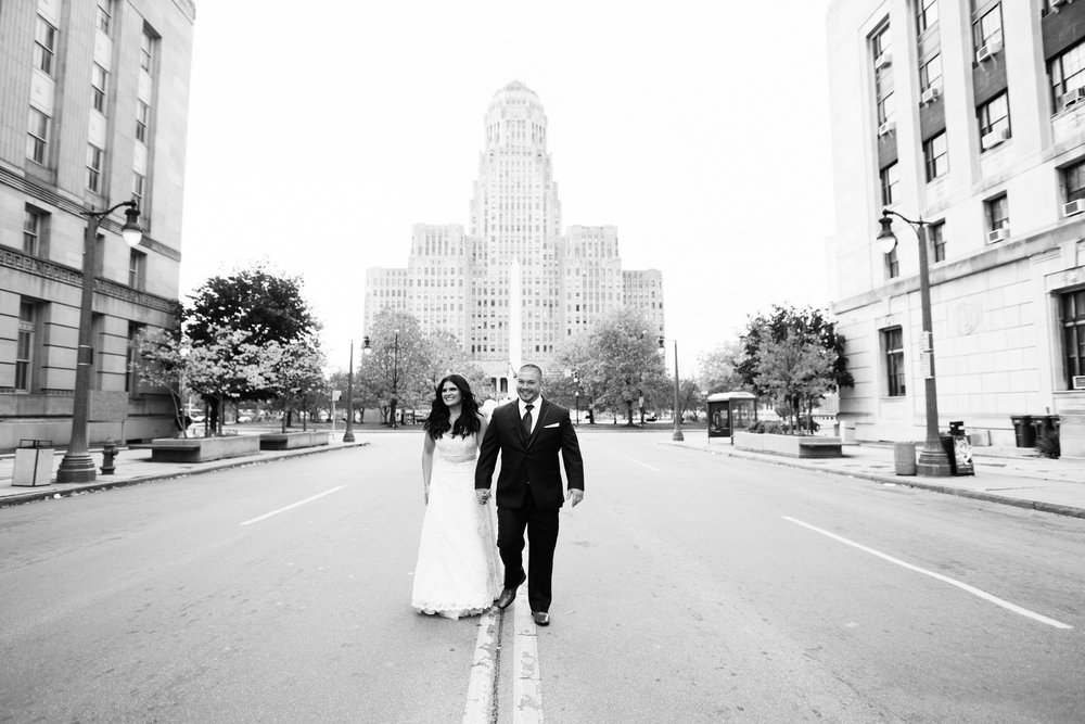 Gina and Mike Wedding Photography at Peal at the Webb by Stefan Ludwig in Buffalo. NY-83-BW.jpg