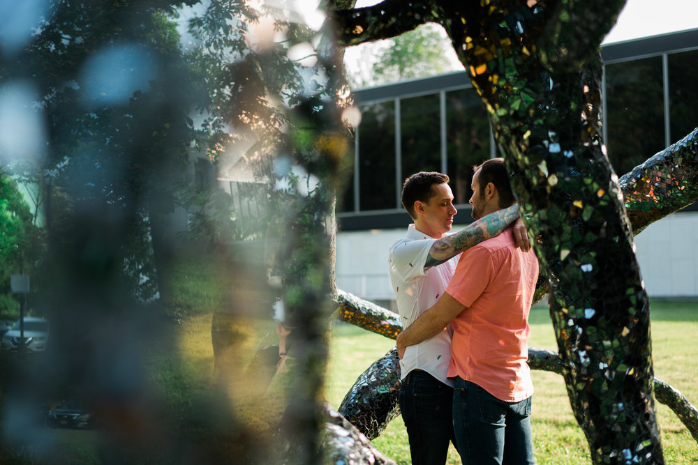 Brandon and Michael Engagment Photos at Albright Knox Art Gallery and Theatre District in Buffalo NY by Stefan Ludwig Photography-28.jpg
