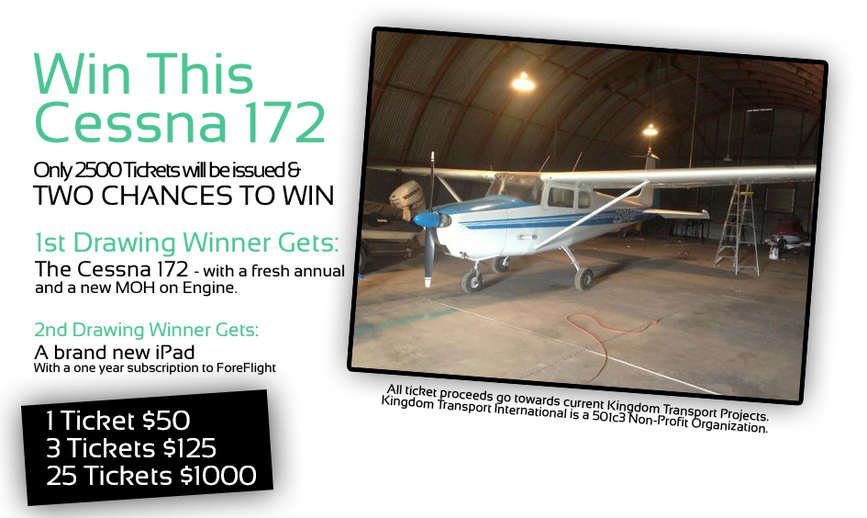 Cessna 172 Airplane Giveaway