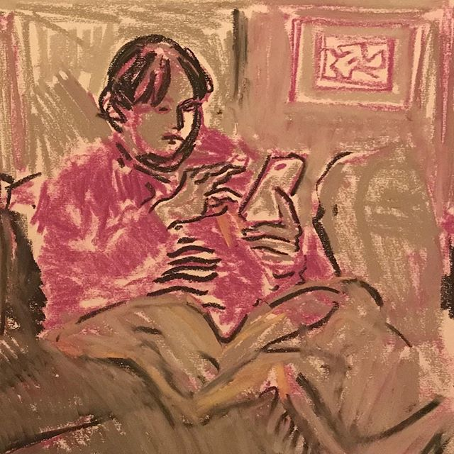Evening in #drawing