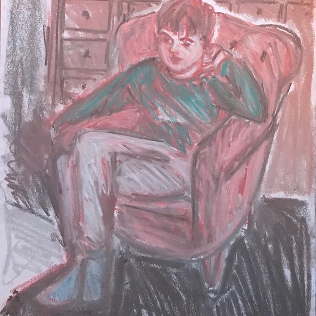 Tv time #backtoschooltomorrow #drawing#chalk #royaldrawingschoolalumni