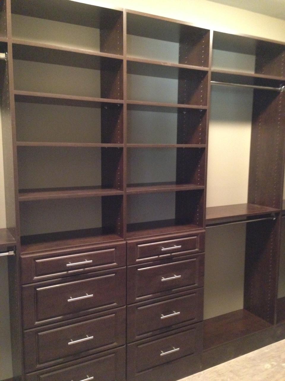 Custom Closet   Dark Brown With Drawers