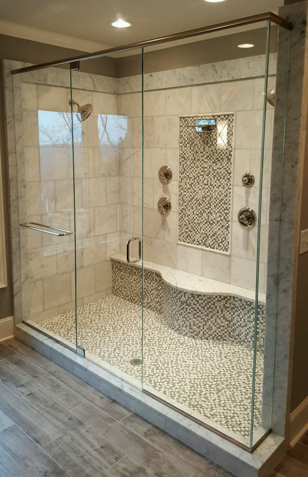 Let Us Help Make Your Bathroom Great By Adding A Beautiful New Shower Door,  Or Great New Mirrors!