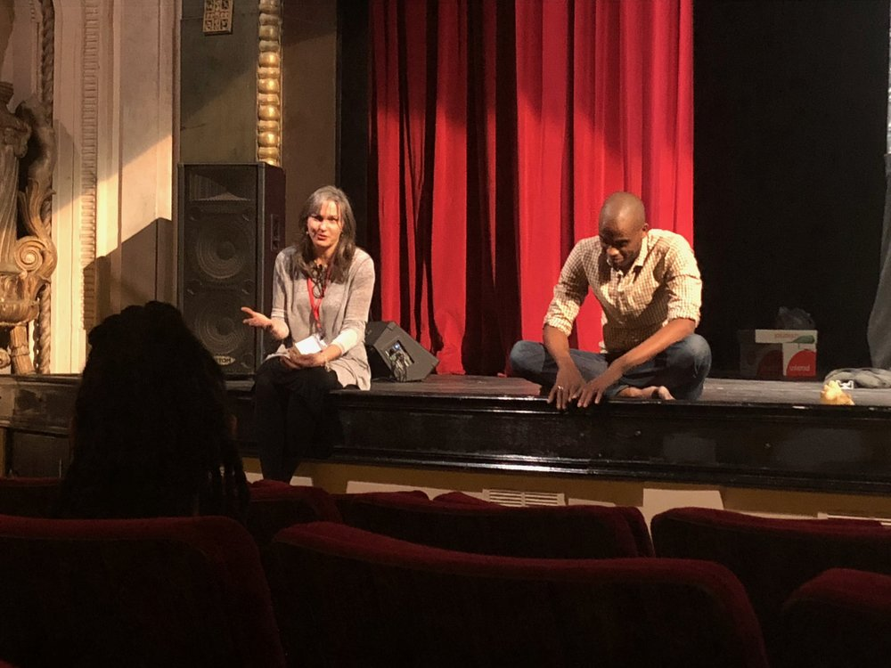 Processing the performance with Dancer and Choreographer Dr. Christopher Rasheem McMillan at Roosevelt University, October 20,2018 (Image taken by Wendy Miller)