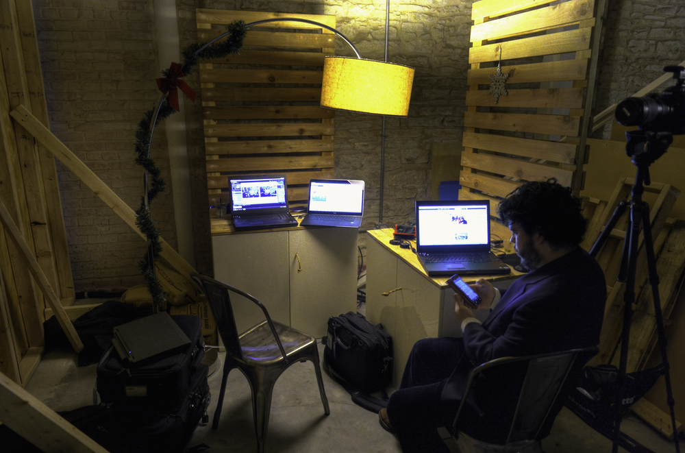 The Fit To Tweet team uses three generations of Precision laptops while working backstage at a recent event.