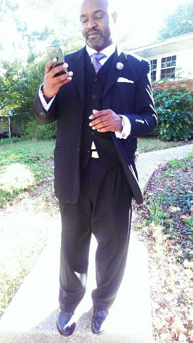 Hubby on his way to church