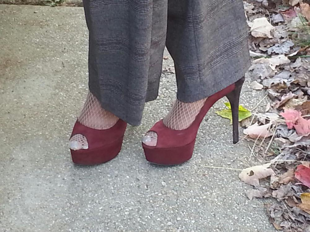 My church shoes - Brian Atwood peeptoe platforms!