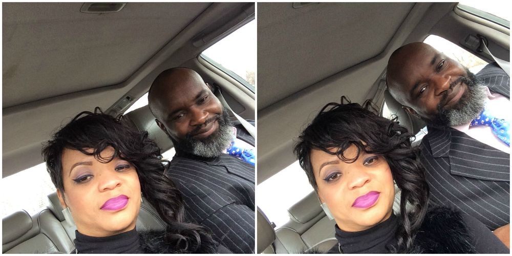 Me & Hubs after church! (I thank God for his patience and love)