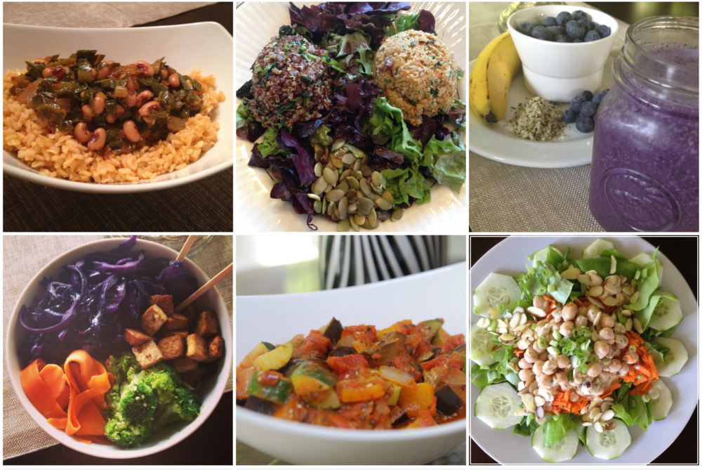 Just a few of Tyra's home-prepared plant-based dishes - looks so delicious and the presentation is wonderful! I say she should add chef and food stylist to her repertoire, as well!