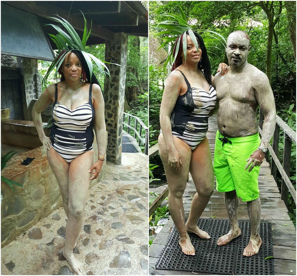 These shots were so hilarious, I really felt like we were giving off that Tarzan and Jane thing, while cleansing our skin and our souls, LOL! How did we do, you guys think we pulled it off?