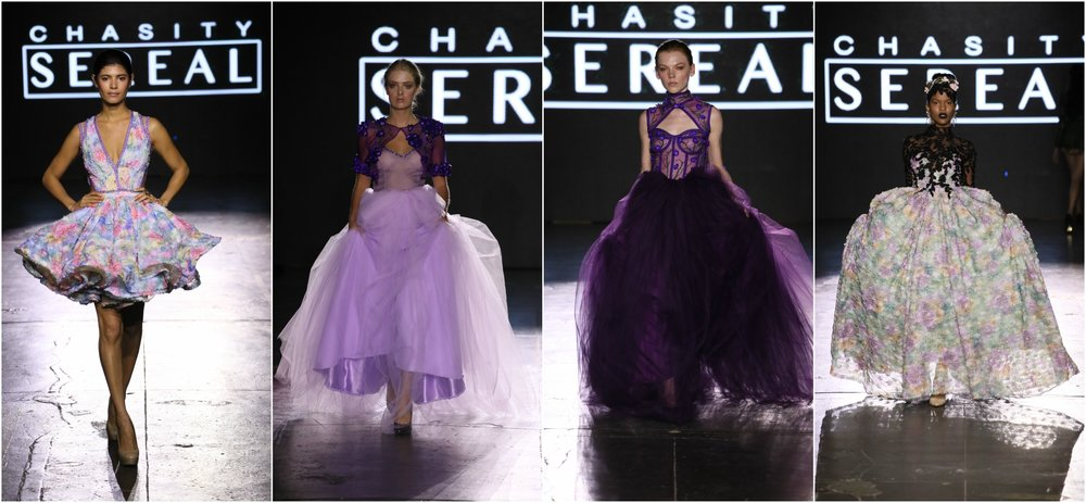 Sensational evening dresses/ball gowns and non-traditional bridal gowns inspired by fantasy and fairytale.