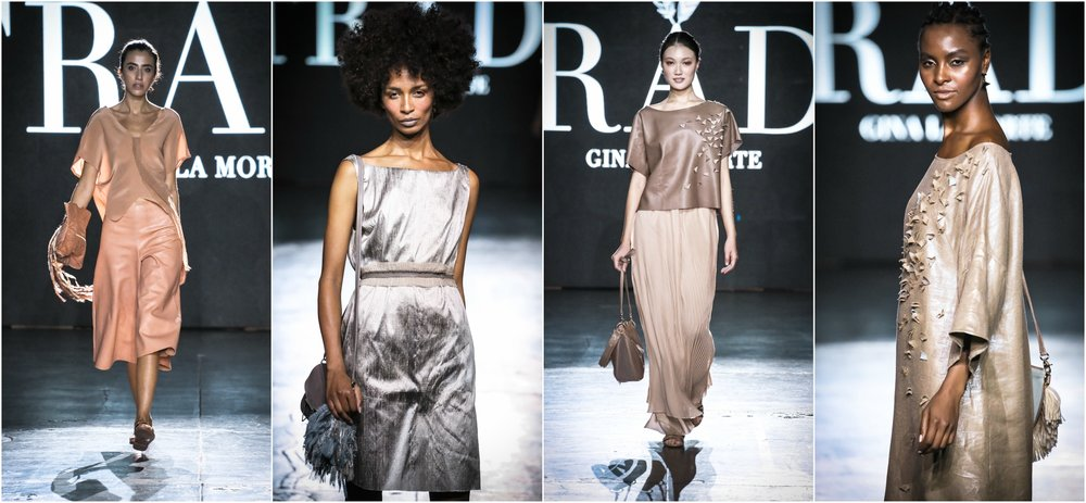 Love the opulent neutrals here from this apparel and handbag designer with a cause (supports work to end trafficking of women and children). Luxurious, drapey fabrics in very feminine designs.