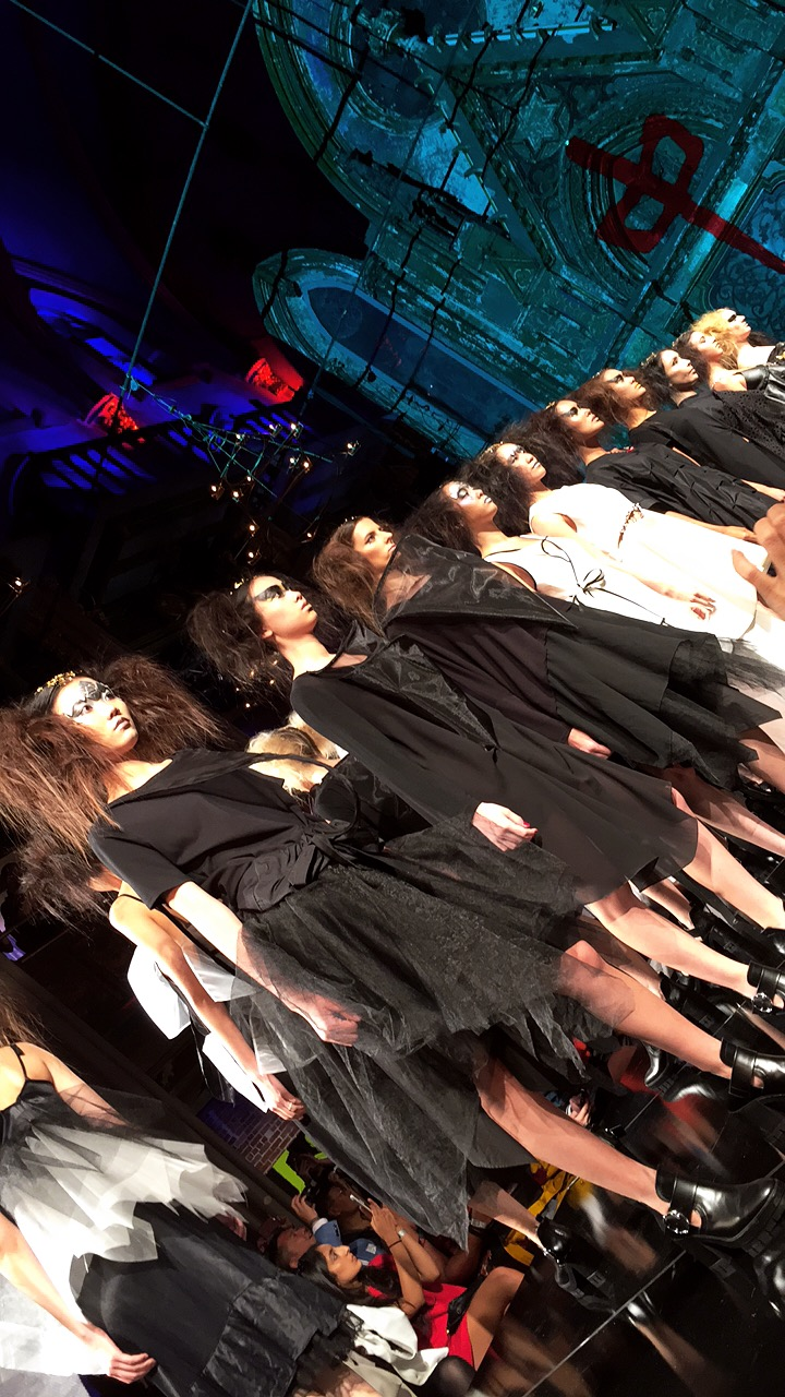 Harajuku girl meets edgy goth girl is how I define this collection by hairstylist turned designer, Edison Lu.