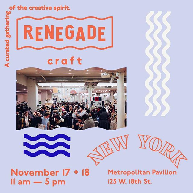 Snow is on the ground and it's not even Thanksgiving yet 🙃We are driving down to Chelsea for @renegadecraft this Saturday and Sunday. It will be our first NYC show that is open to the public. We are very excited to see old friends and meet new ones. We will be at booth #180. Hope to see you there #renegadeNY