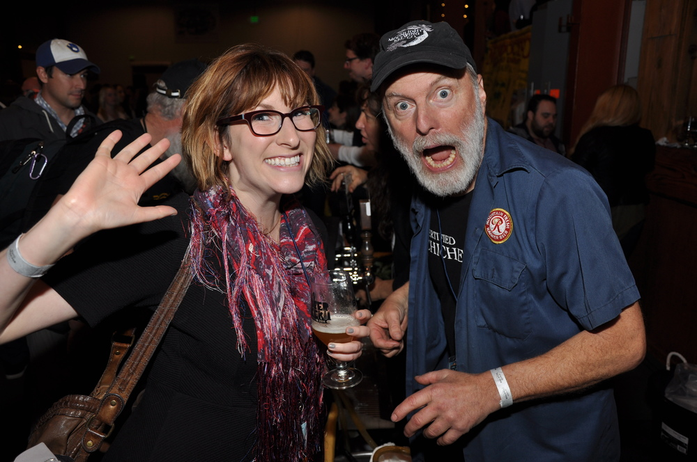 Find Paige all over SFBW! Here she is at the Opening Gala over the weekend with Brian Hunt of Moonlight Brewing!