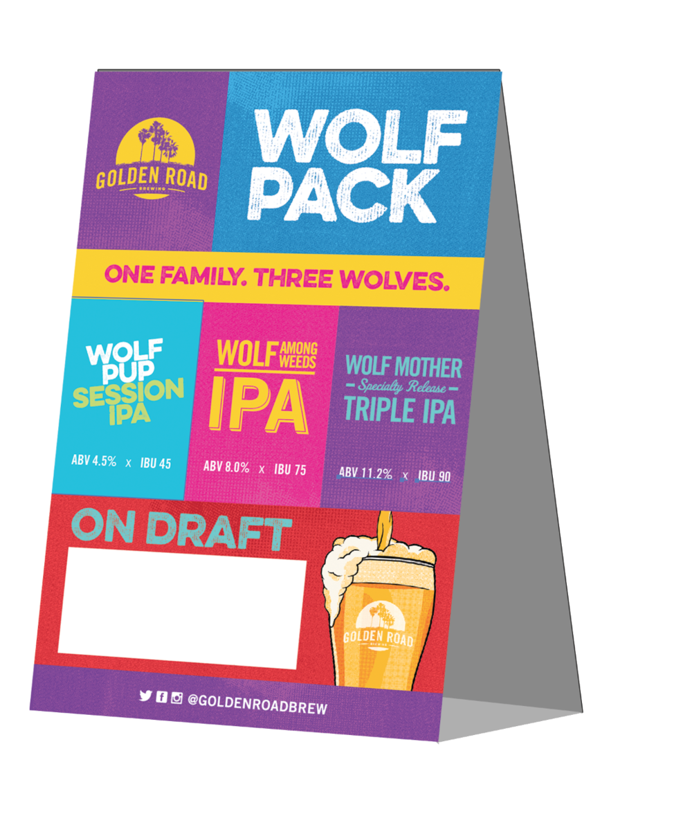 "WOLF PACK TABLE TENT W/BLANK SPACE 4""X6"" PDF"