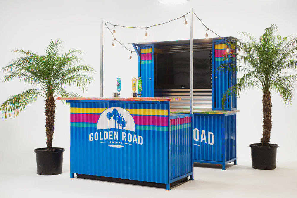 WIN A BAR FOR YOUR HOME - Golden Road Brewing will install a custom bar for your home.