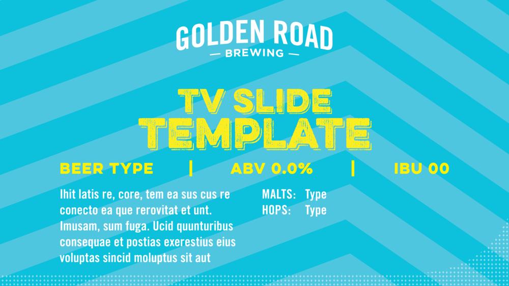 TV Slide Template —   INDD ,  ZIP