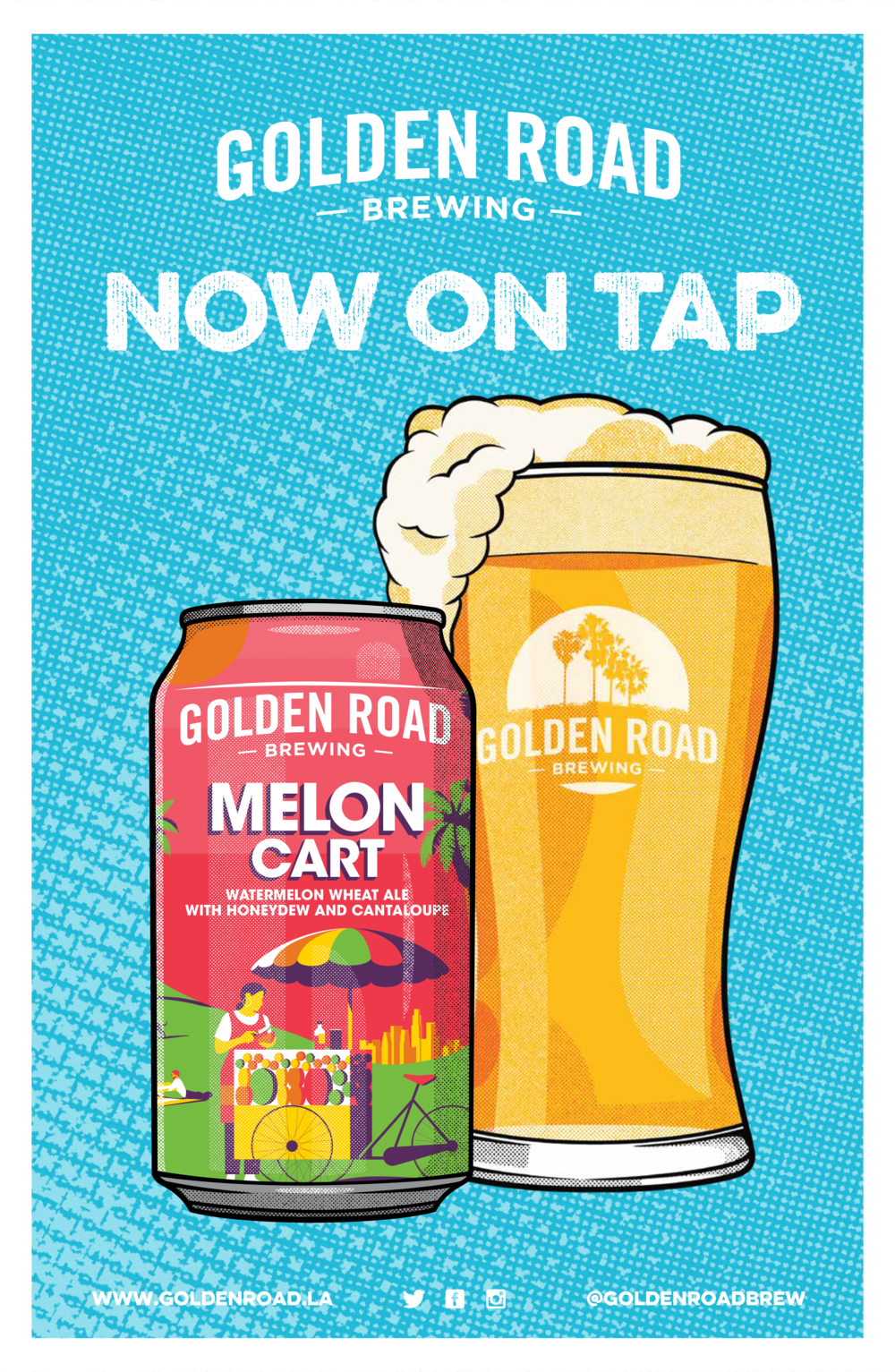 "Melon Cart Now On Tap Poster 11"" x 17"" —   PDF"