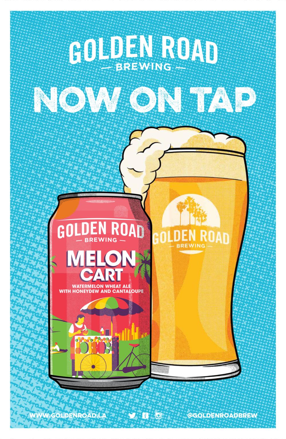 "Melon Cart Now On Tap Poster 11"" x 17"" —   PDF"